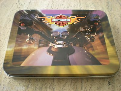 Harley Davidson Motor Cycles Collectible 2 Deck Playing Cards in Tin *NEW*