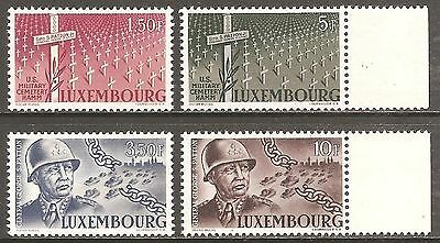 1947 Luxembourg General Patton SG 498-501 MNH/** (Cat £30)