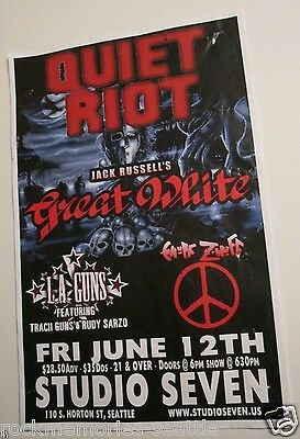 Quiet Riot Jack Russell's Great White L.A. Guns Sarzo Original Concert Poster