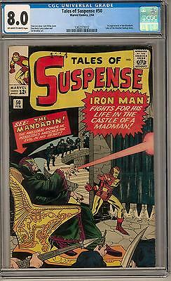 Tales of Suspense #50 CGC 8.0 (OW-W) 1st Mandarin Appearance
