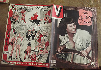 Revue V N°216/1948 Pin-Up, Ma Chambrette D'amour