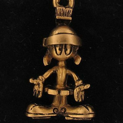 CHARM Marvin The Martian WARNER BROS LOONEY TUNES ANTIQUE GOLD NEW WB STORE 4188