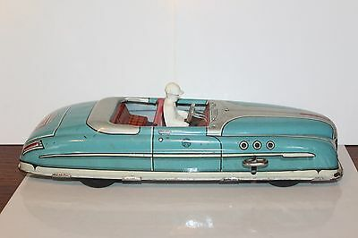 NICE VINTAGE WIND UP 1950'S  MARX CONVERTIBLE with DRIVER
