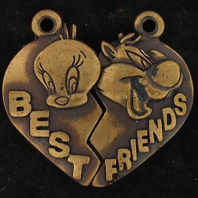 CHARM 2 PIECE HEART SET Sylvester Tweety WARNER BROS LOONEY TUNES WB STORE 5030