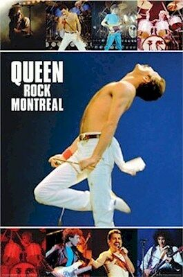QUEEN ~ ROCK MONTREAL ~ 24x36 Music Poster ~ NEW/ROLLED! Freddie Mercury