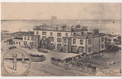 Rosslare Hotel Co. Wexford, Golf, Jotter Art Postcard B726