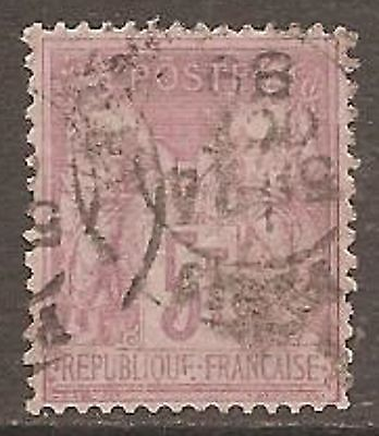 1877 France 5f. Peace & Commerce SG 278 Used (Cat £120)