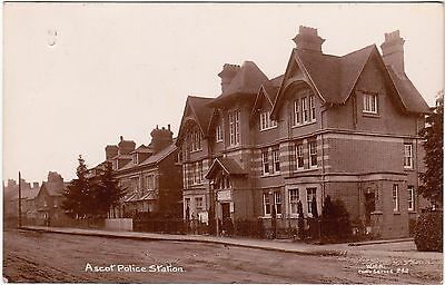 Berkshire postcard ASCOT POLICE STATION 1914 by W.H.A real photo card