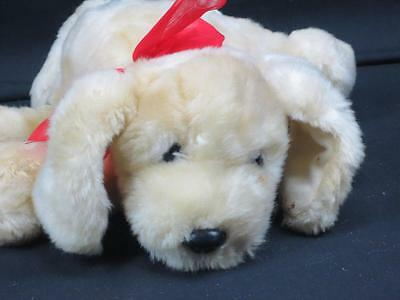 Kids In America Laying Down Golden Retriever Yellow Labrador Plush Red Bow Lovey