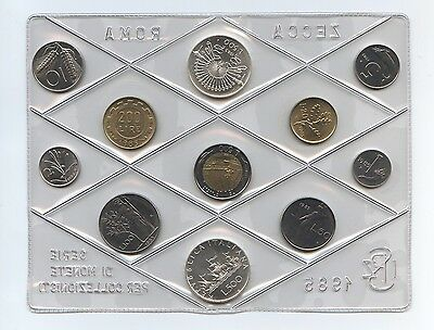 1985 Italy Mint Set, in original packaging, 2 coins Silver