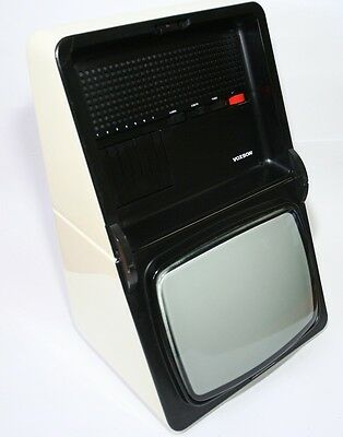 "Rare And Stilish 1970 Television Voxson T1228 Oyster 12"" Italy Space Age Vintage"