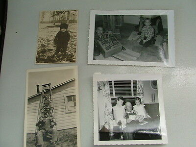 Vintage 16 B & W Photos Children 1930S-50S Butter Nut Coffee Box