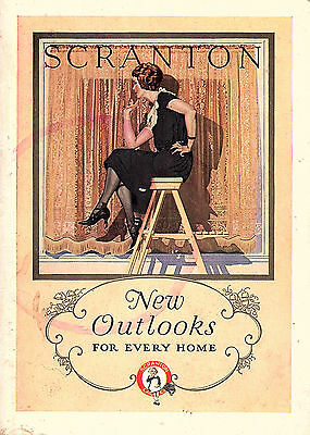 Window Draping 1924 Decorating Booklet Scranton Lace Co Scranton PA Curtains