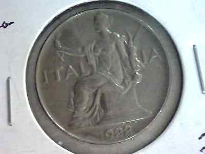 Italy 1922 One Lire High Grade Au Coin