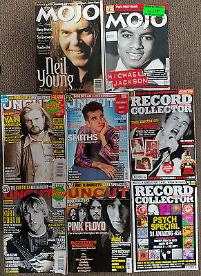 Mojo/uncut/record Collector Uk Various Magazines Lot Of 8 1995-2015