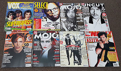 Uk Music Magazines Rare Vintage Mojo Uncut Vox Select 1990 – 2014 Lot Of 8