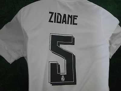 Real Madrid Home Shirt 2015-16 Zidane Size Large  Bnwt