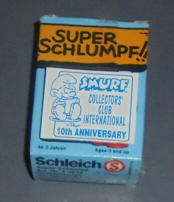 Vintage 10Th Anniversary Collectors Club Smurf Box ---Box Only----