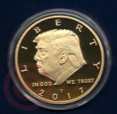 Donald Trump Money 24K Gold Plated Inaugural Eagle Commemorative Novelty Coin