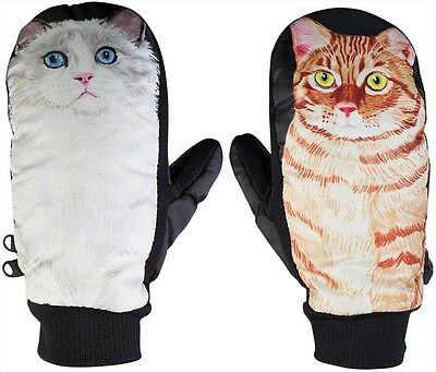 Neff Character Snowboard Mitts, M, CAT