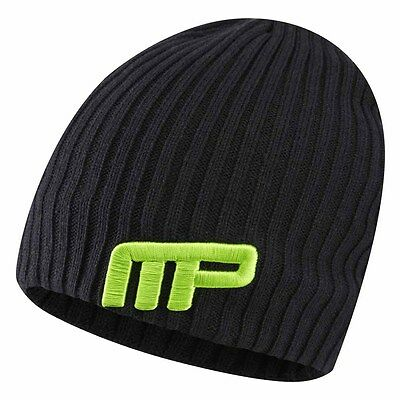 Musclepharm Knitted Beanie Hat One Size Black Gorras