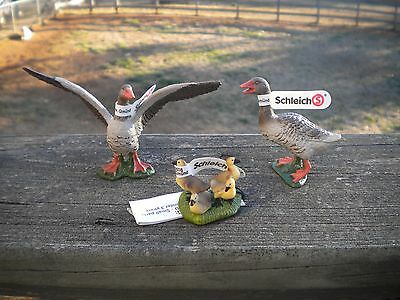 Goose Family by Schleich/RETIRED/gander/goslings