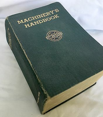 Vintage 1942 MACHINERY'S HANDBOOK 11th Edition, Indexed, Nice Condition