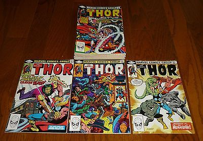 Lot of 18 The Mighty Thor # 319-336 Marvel Comics, 1982-1983, Herb Trimpe NICE!