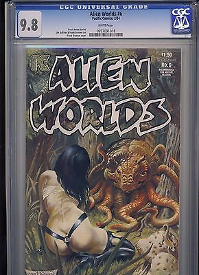 Alien Worlds # 6 Cgc  Near Mint/mint 9.8 White Pages 1984 For Mature Readers