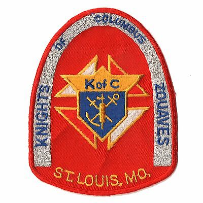 Vintage K of C Knights of Columbus Zouaves St Louis MO Vest Jacket Unused Patch