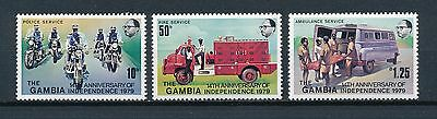 Gambia  388-90 MNH, Independence Anniversary, 1979