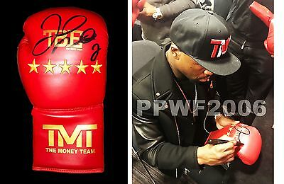 Floyd Mayweather Jr Hand Signed Autographed Boxing Glove With Exact Pic Proof 2