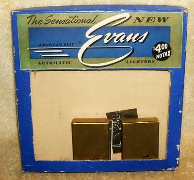 1940-50's Evans Automatic Lighters Store Display with 2 Lighters