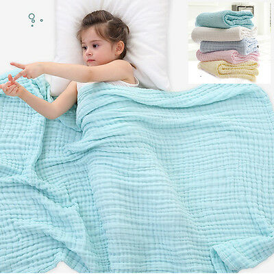 High Quality Baby Swaddling Blanket Soft Muslin 100% Cotton Swaddle Towel Wrap