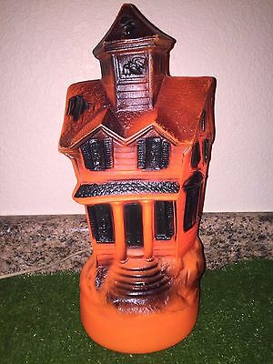 """Rare Vintage Halloween 13"""" 1969 Lighted Blow Mold Haunted House Decoration"""