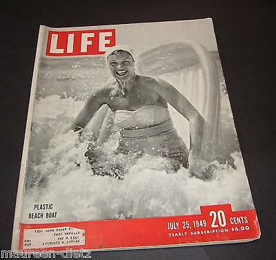July 25, 1949 LIFE Magazine US History Ads 40s advertising adds FREE SHIPPING 7