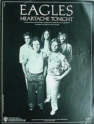 Eagles Sheet Music, 1979 - Heartache Tonight