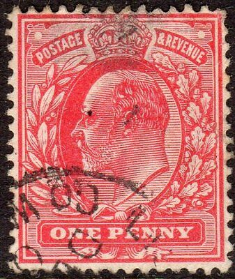 Great Britain Scott # 128 F/VF Used 1902-11 1p King Edward VII