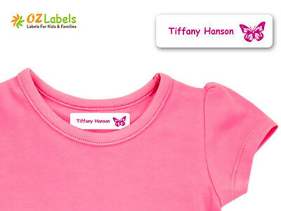 Custom Iron-on Clothing Name Labels for Kids Uniforms, Medium Size - Oz Labels