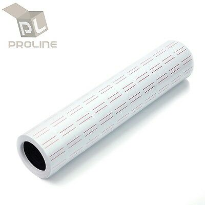 10 Rolls 5000Pcs White Red Line Tags Labels Refill MX-5500 Gun Price Sticker