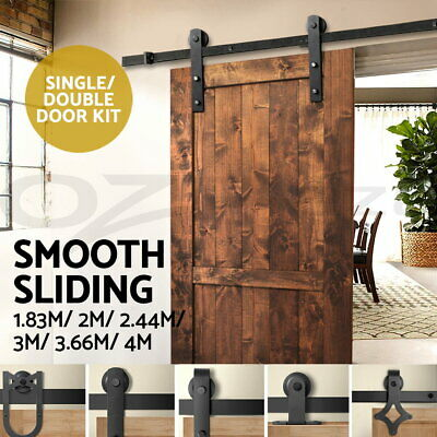 2M 2.44M 3M 3.66M 4M Sliding Barn Door Hardware Track Set Bedroom Interior Home