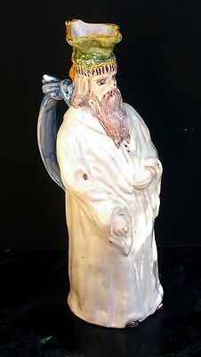 Nord Grand Pichet Anthropomorphe En Faience Xviiieme Moine Orthodoxe H.32Cm