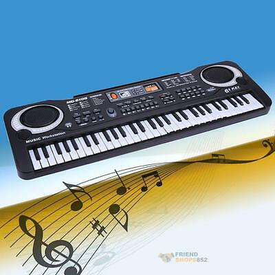 61 Keys Digital Music Electronic Keyboard Electric Piano for Baby Gift US