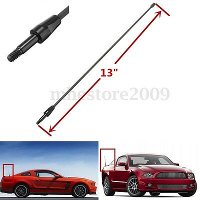"""13"""" Black Spring Stainless AM FM Antenna Aerial Mast For Ford Mustang 1979-2009"""