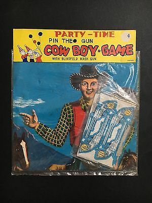 TOY COW-BOY GAME PARTY-TIME 1960's MADE IN JAPAN