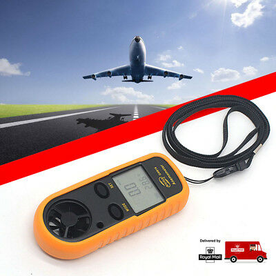 Proster Anemometer Digital LCD Surfing Air Wind Speed Meter Gauge Thermometer