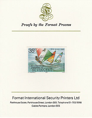 St Vincent Grens 4273 - 1985 TOURISM  mperf on Format International PROOF  CARD