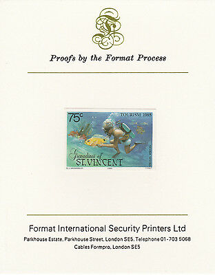 St Vincent Grens 4275 - 1985 TOURISM  mperf on Format International PROOF  CARD