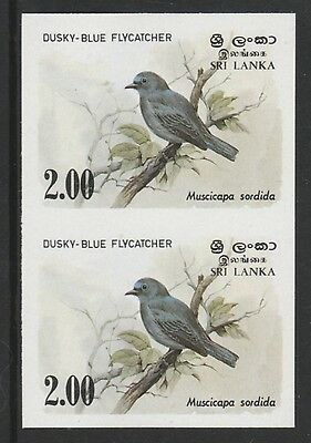 Sri Lanka 4280 - 1983 FLYCATCHER IMPERF PAIR unmounted mint