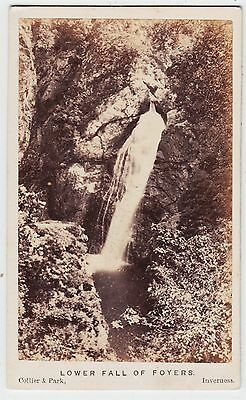 Scotland CDV-FOYERS, Lower Fall of Foyers by COLLIER & PARK OF INVERNESS